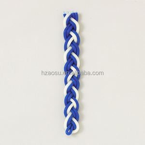 Havdalah Candles Braided Blue and White Flat