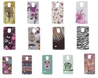 TPU Gel Glossy Case for Galaxy Note 4 Samsung N910 - Watercolor Dreamcatcher