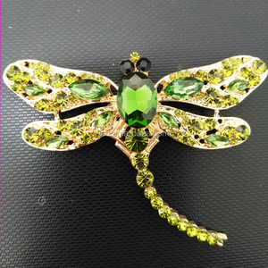 Rhinestone dragonfly Crystal Main Stone and Brooches Jewelry Type cheap brooches in bulk