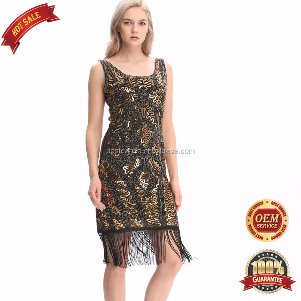 BestDance 1920s <strong>Vintage</strong> <strong>Inspired</strong> Sequin Embellished Fringe Prom Gatsby Club Party Flapper <strong>Dress</strong> Costumes OEM