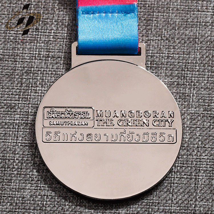 Shuanghua zinc alloy soft enamel metal night running medals custom medal with own design