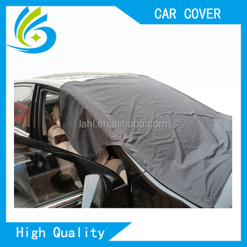 Manufacturer Polyester Silk Fabric Magnetic Sun Protection Car Front