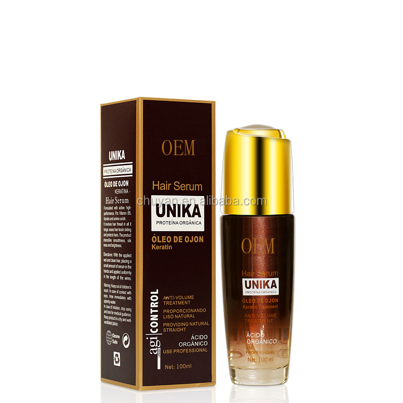 OEM/ODM wholesale hair serum with keratin and manufacturer Argan oil for dry Hair Frizzy  100ml