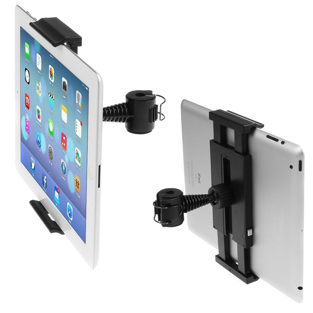 "Universal Car Headrest Backseat Mount Holder (Nb) Snap-on Cradle with 360 Degrees Rotation for 9.7"" 10"" 10.1"" 10.2 Inch Tablet Pc Including for Apple Ipad Air Ipad 1 2 3 4 5 5th /Samsung Galaxy Note Gt-p5110/tab 3/4 /Tab Pro 10.1"" /Tab S 10.5""/asus Transformer Book T100/t100ta/toshiba Excite"