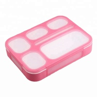 LULA Newest Style Kindergarten Lunch Box Plastic Bento Waterproof 1000ml 6 Compartment Lunch Box for Kids