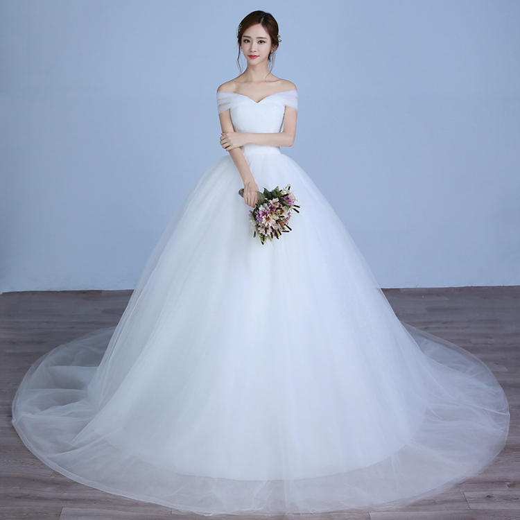 Princess Wedding Dress 2018 Simple Elegant Sweetheart Long Trail ...