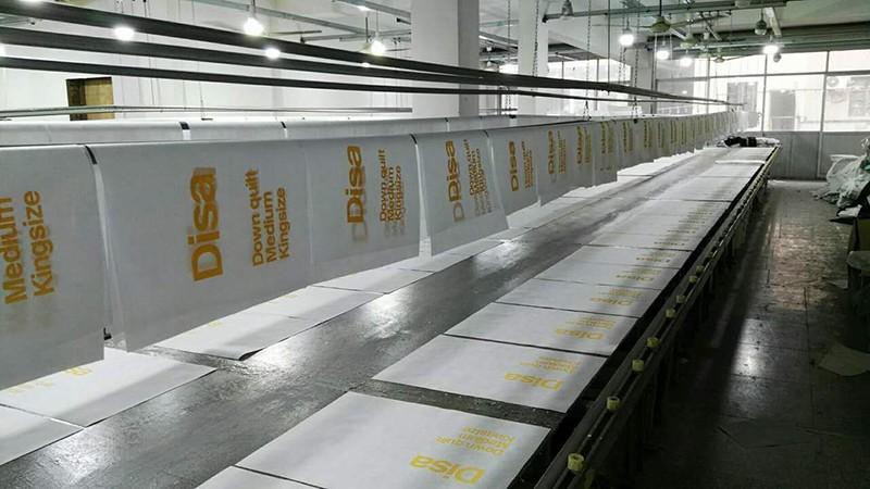 Transparent Vinyl Quilt Bedding Bag Recycling Pvc Zipper