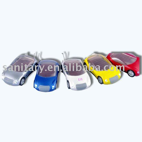 Colorful car shape light key chain OEM gift promotion LD30676