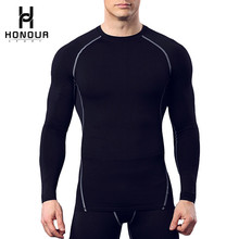 Wholesale Custom Sublimation Printing Youth Sport Wear Mens Long Sleeve Training Compression Shirt for Bodybuilding