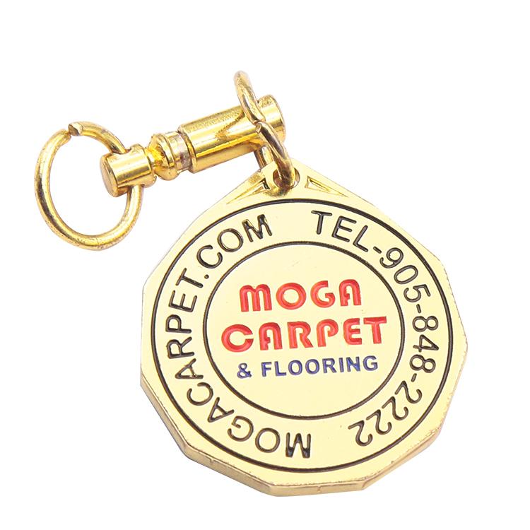 ร้อนขายแฟชั่นโปรโมชั่นโลโก้โลหะที่กำหนดเอง custom key แหวน