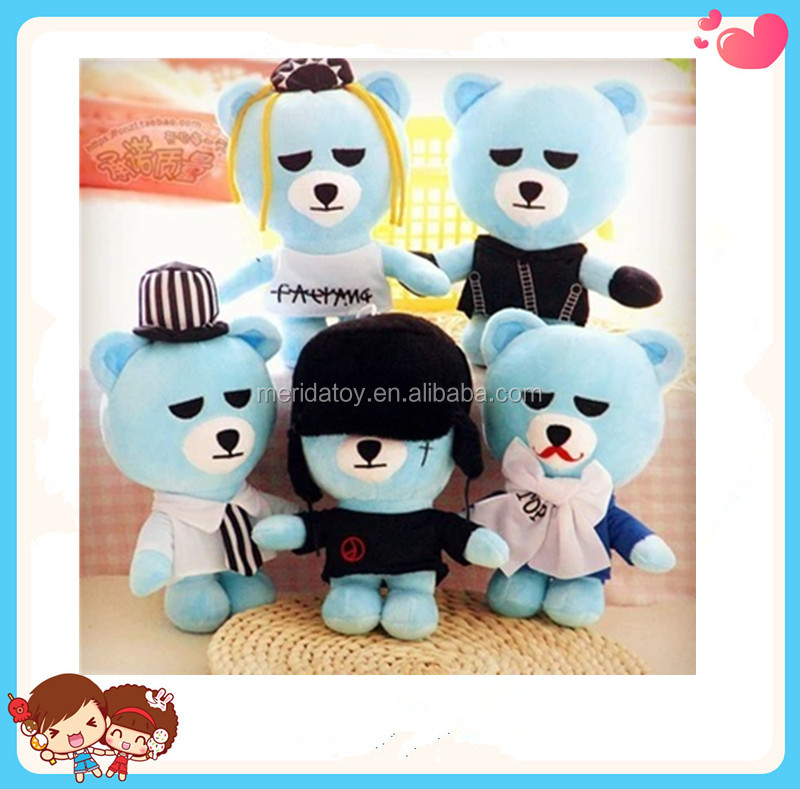 Wholesale 24cm Korean Hot Kpop Star Bigbang Plush Doll Stuffed Plush Toys For Fans,G-dragon,TOP