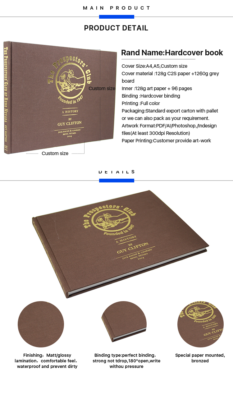 OEM & OEM manufacturers top quality custom cheap eco friendly hardcover book printing