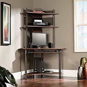 Buy Tower Corner Computer Desk - Pewter and Cherry Finish in ...