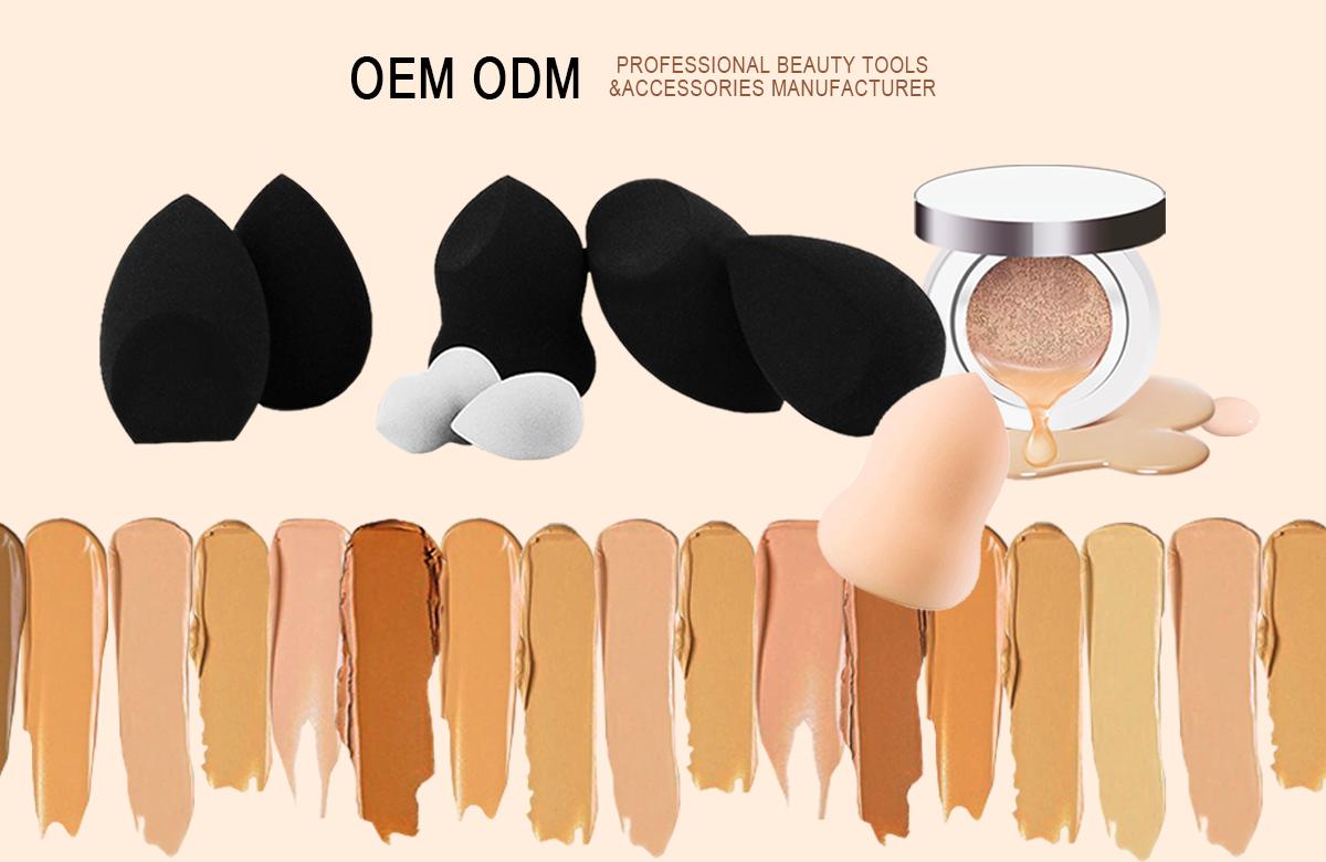 Wholesale private brand Vitamin E infused Makeup sponge latex free cosmetic sponge applicator hydrophilic polyurethane foam