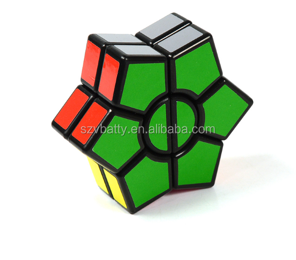 2-Layers Hexagonal Magic Cube Speed Cubo Anti Stress New Puzzle Cube Toy