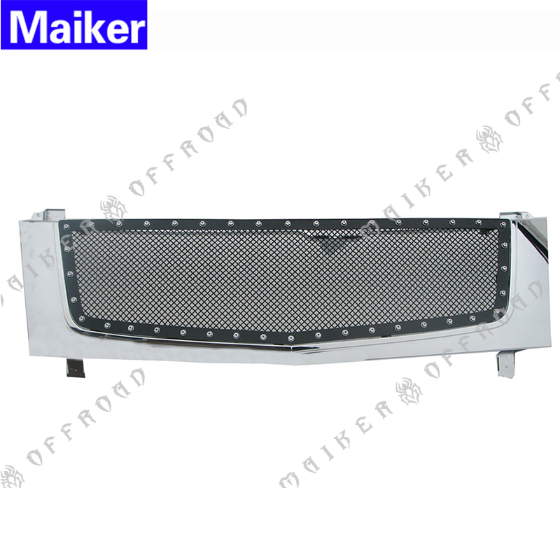 2002 - 2006 New style replacement car sliver mesh grilles for Cadillac Escalade auto parts