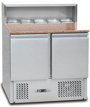 Commercial Refrigerator High Quality 2 Doors Pizza Prep Table Fridge