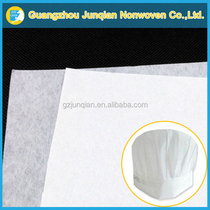 Use For Disposable Chef Hat Hygiene Nonwoven PVA Fiber Wetlaid Nonwoven