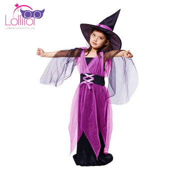 Little girl halloween costumes ideas 2017 witch long dress new halloween costumes