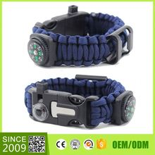 Wholesale Black 550 Paracord Outdoor Survival Watch Bracelet For Hiking