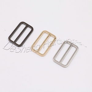 Retro hook hanger Alloy Adjustable Strap Buckle Metal Slide bar Buckle