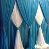 Adjustable Pipe And Drape Kits Wedding Stage Curtain Backdrop