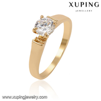 13958-Xuping Best Quality Simply Gold Ring Design For Weddings