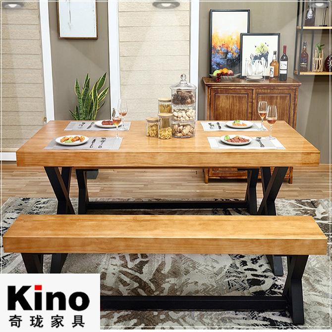 Solid Wood Conference Long Table Executive Desk Log Boss Strip Tea Natural Side