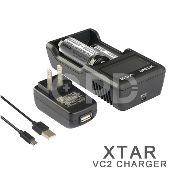 XTAR VC2 Electric LCD Display Smart USB 18650 battery Charger Lithium Ni-MH AAA Battery For sony battery
