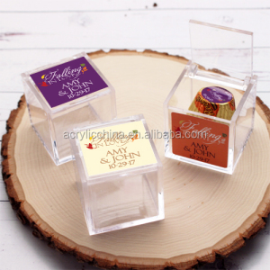 Clear Personalized Acrylic Wedding decorate Favor Boxes