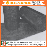 plain weave black wire cloth