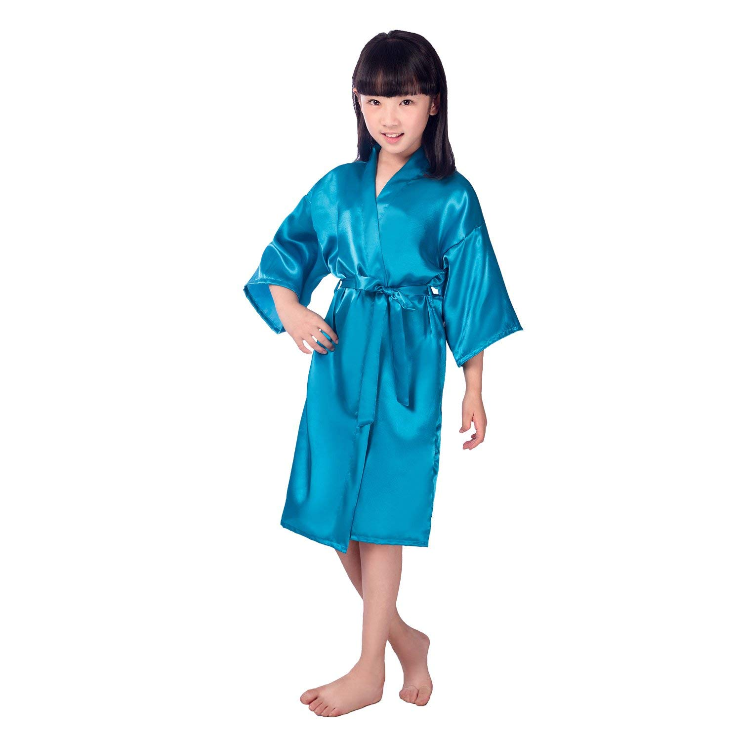 86e64ca7f8 Get Quotations · Children s Silk Stain Pure Kimono Wedding Dressing Gown  Kimono Robes Bridal Lingerie Sleepwear