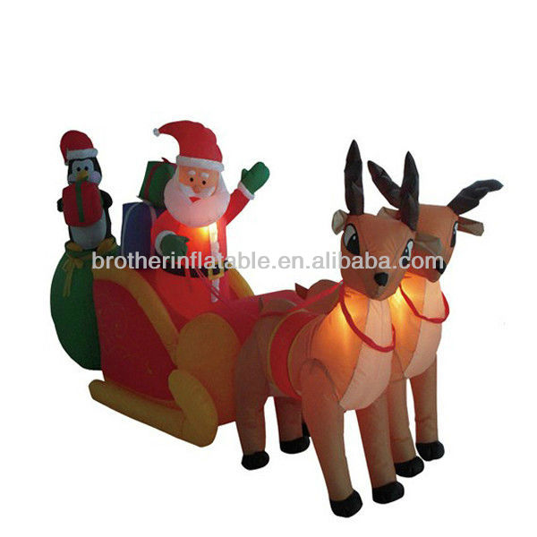 Hot sale inflatable lighted outdoor christmas deer