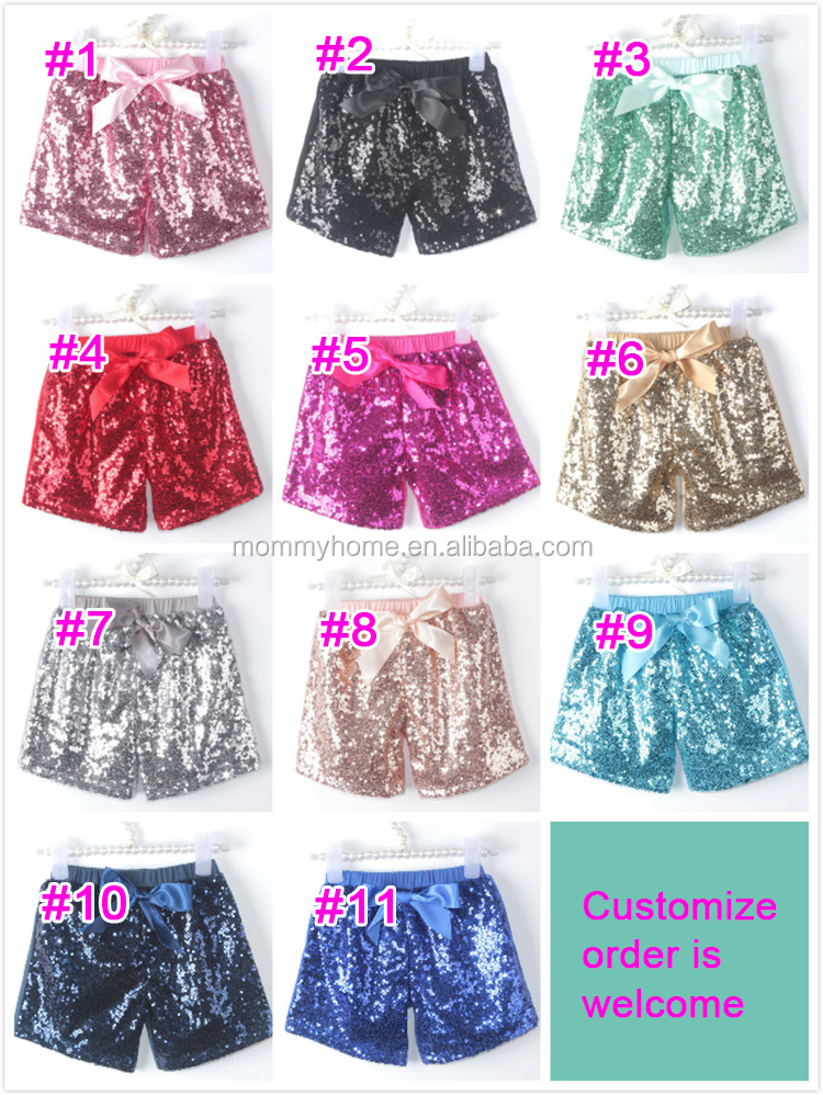 2015 New Arrival Pageant Dance Girls Royal Blue Baby Sequin Shorts ...