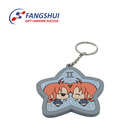 China manufacturer bulk custom make lovely star shape soft pvc keychain for couples