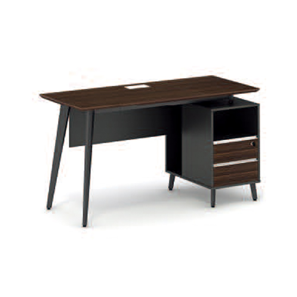 New Design Wooden Top Metal Legs Small Office Computer desk With File Cabinet(LD-D0912)