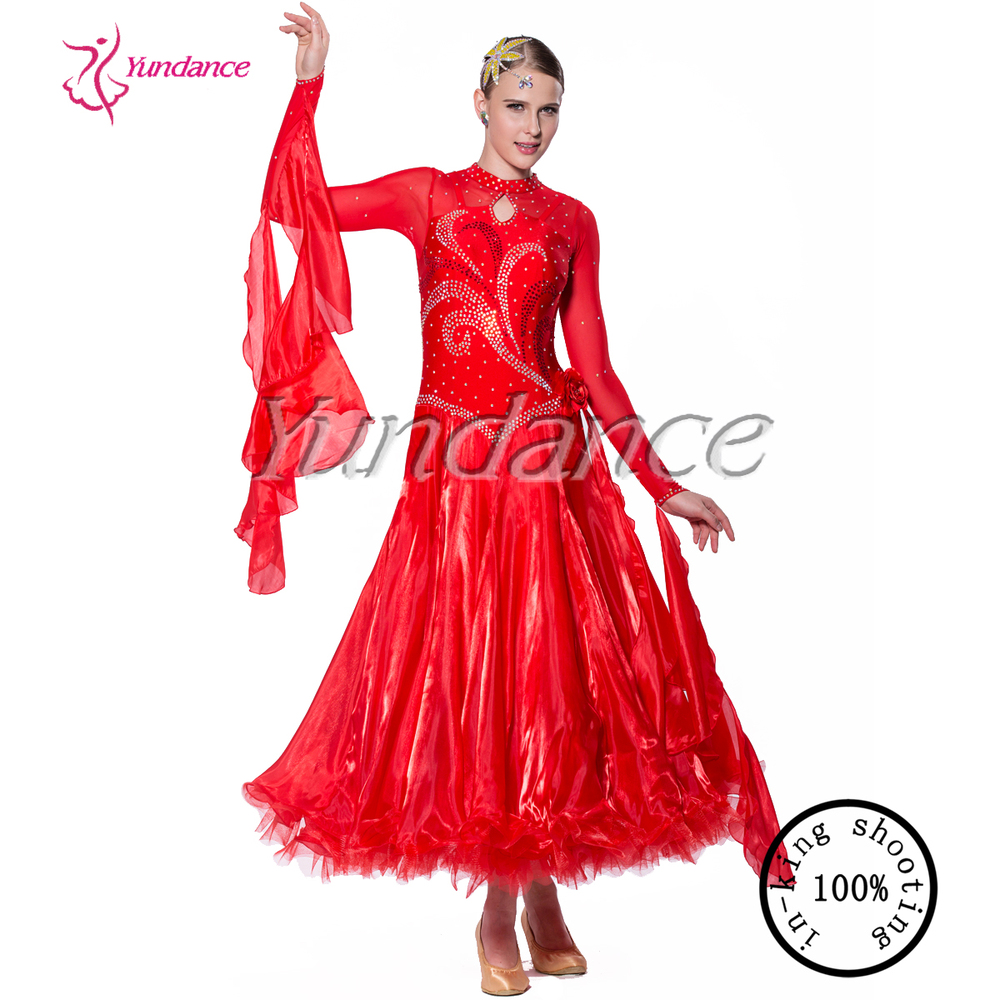 8ca1edad958e 2016 Red Wholesale Lace Ballroom Dance Dress China B-11668 - Buy ...