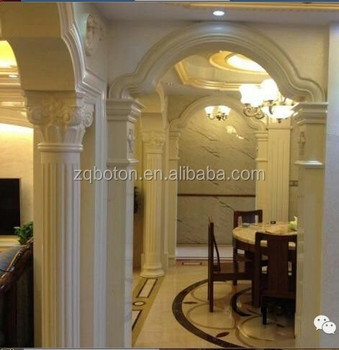 Polished Marble Decorate Pillar Design For Indoor Usage