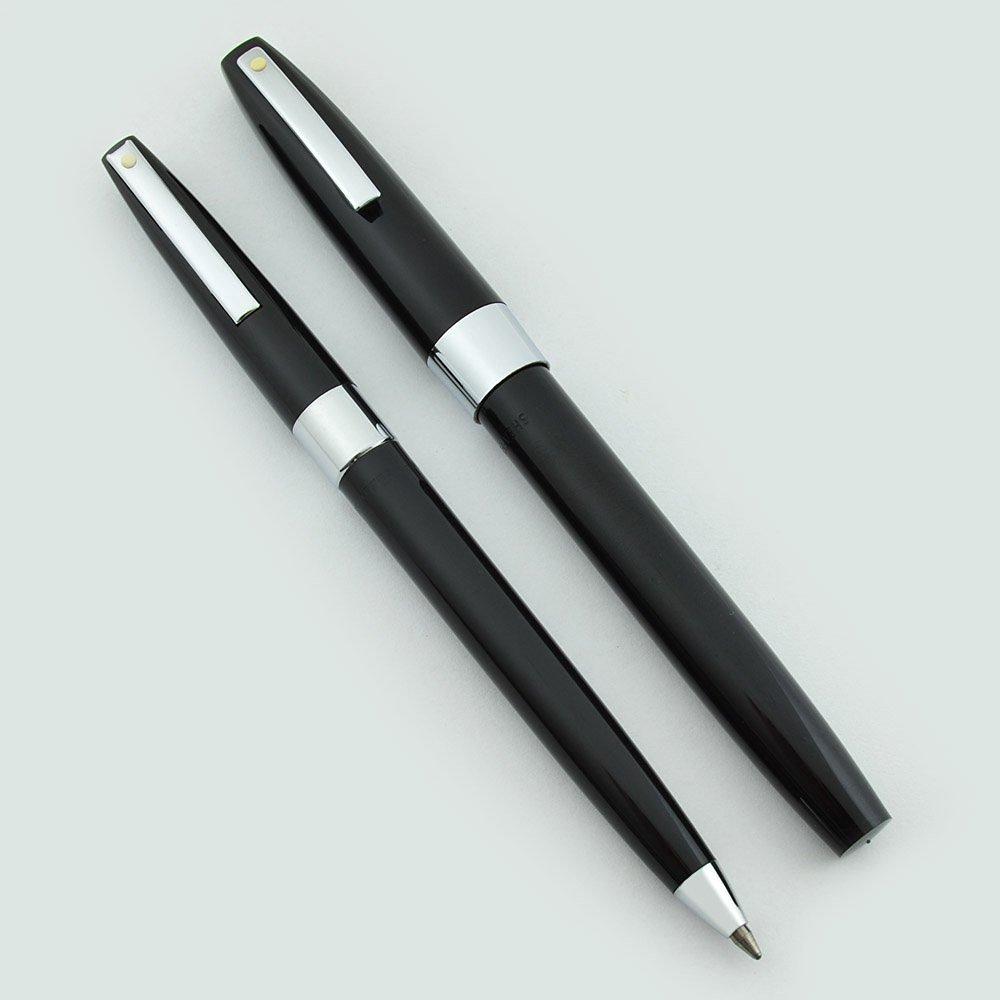Sheaffer 330 Fountain Pen & Ballpoint Set - 1970s New Old Stock (Black, Fine)