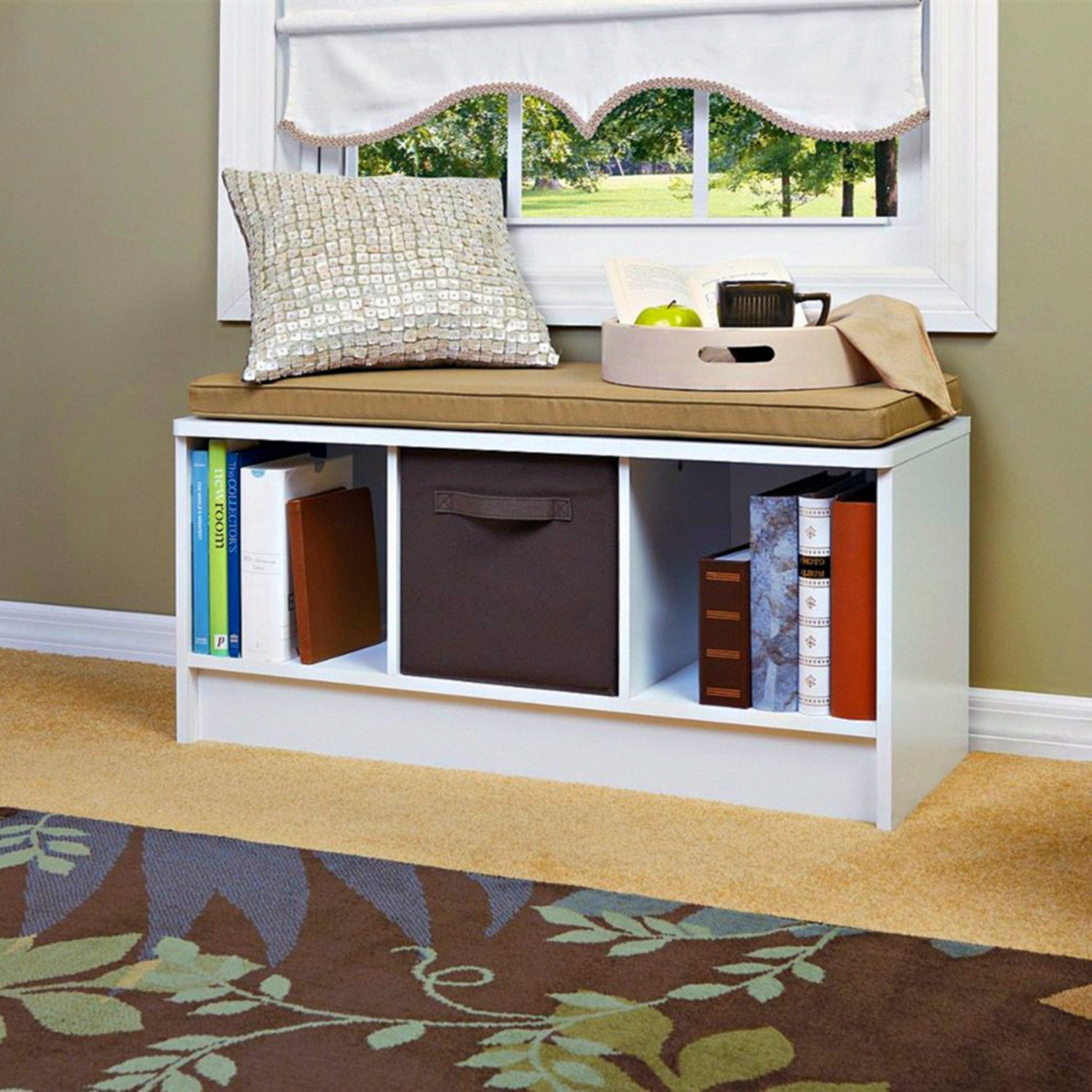 simple storage top organization real bench split cube white in pin