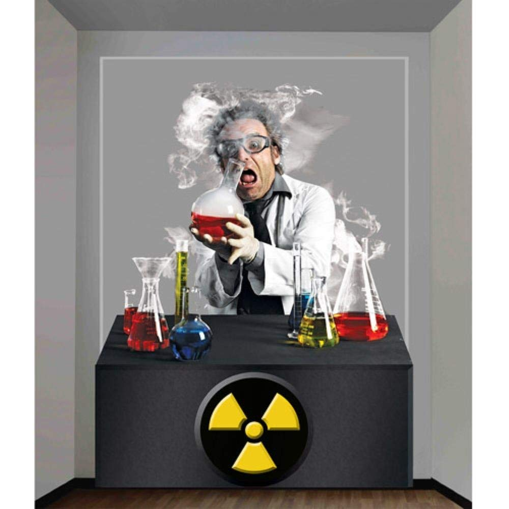 get quotations 4 x 53 scientist wall decoration halloween accessory