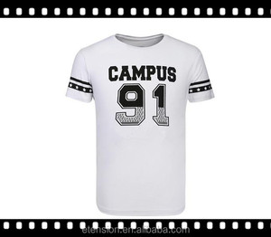Men's Fashion Campus Style Cotton Custom Printed Brand Name Of Casual Shirts
