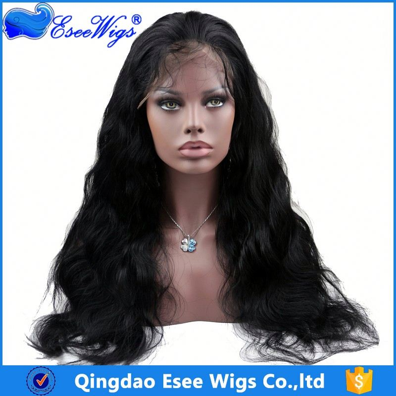 factory wholesale top grade blonde human hair full lace wig
