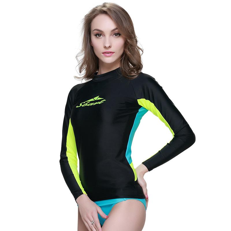 32ba91a89ec Get Quotations · BIG Brand Rashguard Women Swim Shirts Womens Rash Guard  Swimwear Lycra Surf Rushguard Top Quality Rush