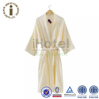 Cotton Terry Hotel Bath Robe and Slippers
