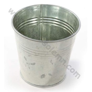 14cm Galvanised Buckets Zinc Metal Silver Tin Buckets