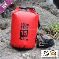 Custom logo PVC tarpaulin Ocean pack Waterproof dry bag with shoulder strap