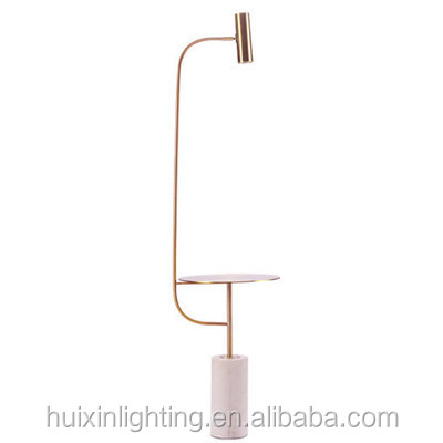 Modern floor lamp bedroom vertical table lamp marble study decoration American floor lamp