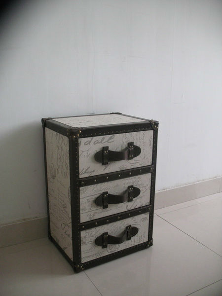 Linen Chest Of 3 Drawer Antique Drawers Fabric Trunk And Narrow