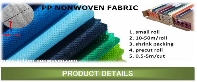 Spun Bond Non Woven Fabric Tablecloth Roll Supplier/NonWoven Non Slip  Tablecloth Roll/small Roll Tnt Non Woven Fabrics